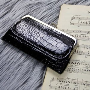 Handbags - Black faux alligator leather wallet